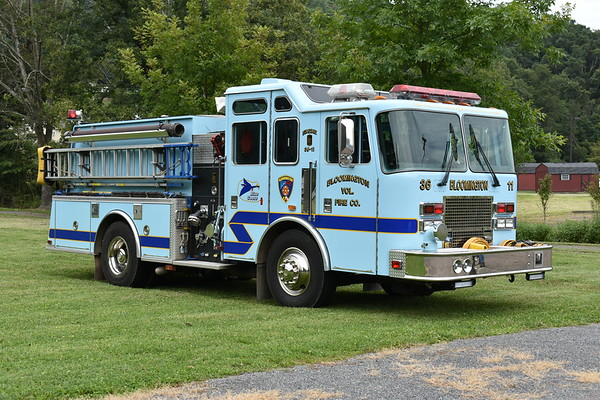Drivers side view of Bloomington's Engine 101.