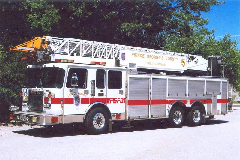 Prince Georges County FD - Capitol Heights Truck 5: <br /> 1996 Spartan/Quality/Aerial Innovations 105'