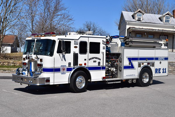 Rescue Engine 11 is a nice 2003 KME Excel, 1250/750, sn- 5331.