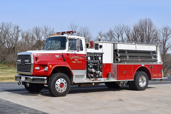 Tanker 12 is a nice 1980 Ford LS9000/Pierce, 1250/1500, sn- E042.