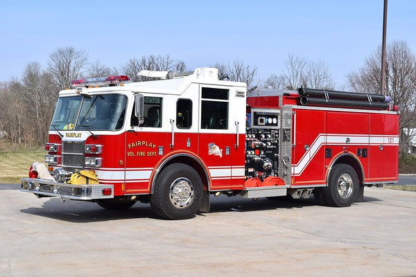 Engine 12-1 from Fairplay is a 2002 Pierce Dash, 1250/1000/40, sn- 13003.