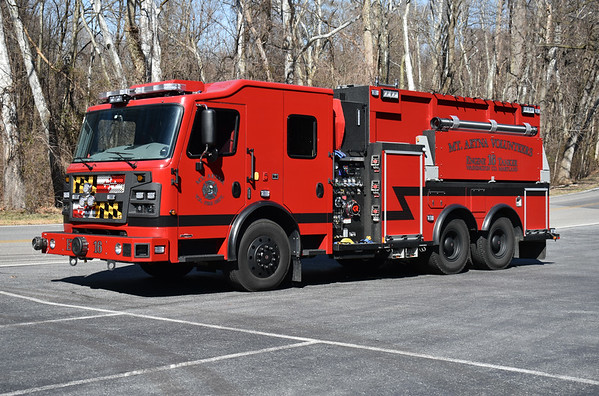 Mt. Etna, Maryland in Washington County - Engine/Tanker 16 is a 2019 Rosenbaurer Commander with a 1250/3000.  Production number 2187519.