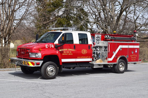 Engine 7-4 is a unique 2006 GMC C5500/Pierce, 500/250/10.