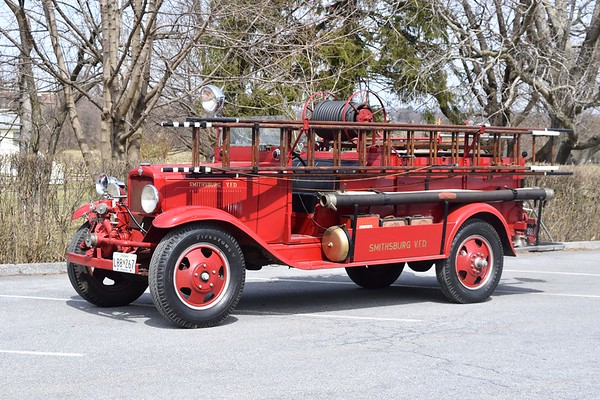 Still owned by Smithsburg is their first fire truck, a 1932 Chevrolet built by the fire department.  Carries a 100 gallon water tank.