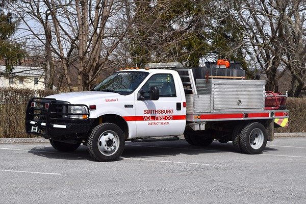 Brush 7 is a 2003 Ford F-550, 250 gallon water tank.  Purchased from a department in Texas.