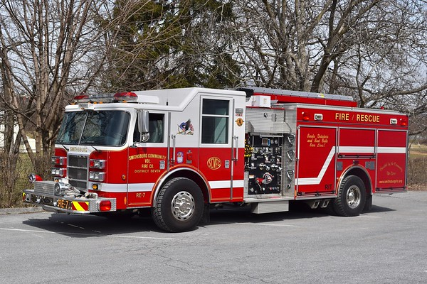 Rescue Engine 7 from Smithsburg is a 2003 Pierce Dash, 1250/750, sn- 14378.