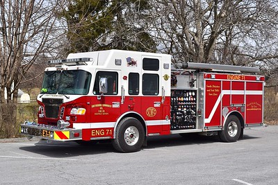 Engine 7-1 is a nice 2010 Spartan Gladiator/Rosenbauer, 1500/750/30, sn- A5812.