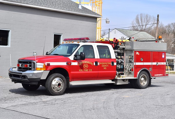 Engine 94 is a 2001 Ford F-550/Pierce, 500/250.
