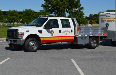 Hagerstown, Maryland Utility 3.  U-3 is a 2008 Ford F350 with a Merritt body.  This truck use to have a Fout's Bros. body.  That truck was wrecked, and the department utilized a Merritt body for the 2008 Ford F350.