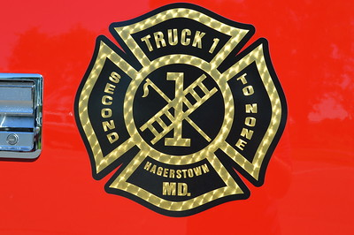 Truck 1 emblem for Hagerstown, Maryland.