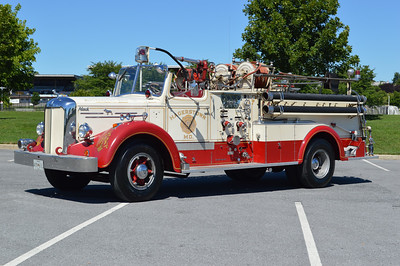This 1952 Mack 85LS with a 750/300 is currently owned by the South Hagerstown volunteers in Hagerstown, Maryland.  Mack serial number 1635.