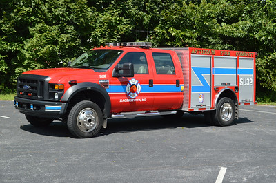 The Antietam Fire Company volunteers operate Special Unit 32 in Hagerstown, Maryland.  It is a 2007 Ford F550 4x4/Plasitol.