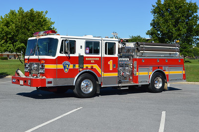 Reserve Engine 1 from Hagerstown (First Hose Co.) is this 1993 KME Renegade equipped with a 1500/500 and GSO #1930.
