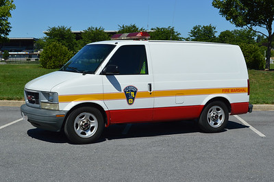 Hagerstown, Maryland Fire Marshal Support 306, a 2003 GMC Safari van.