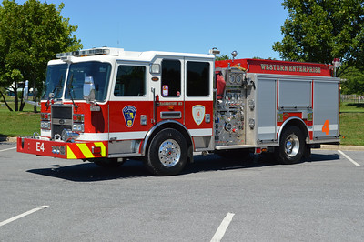 Engine 4 from Hagerstown (Western Enterprise Fire Co.) is this 2008 KME Predator equipped with a 1500/500/40 and GSO #7185.