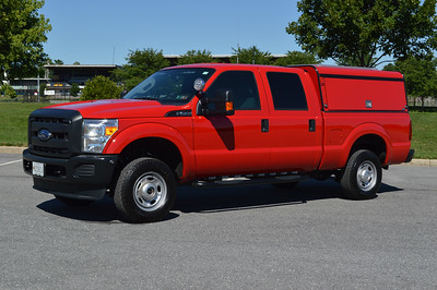 Hagerstown, Maryland Fire Marshal Support 308 - a 2016 Ford F250/911 Rapid Response with a ARE cap.  This is the department's canine unit, with the dog area just behind the drivers seat.  It is also equipped with a solar system power module.