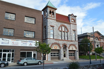 This is the old Antietam Fire Company Station 2 in Hagerstown, Maryland.  A medic unit operated by the Community Rescue Service is the only responder from this station as Engine 2 has other quarters in the city.