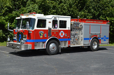 Hagerstown, Maryland Engine 2 is one of three 2003 KME Predator's operated by Hagerstown.  Equipped with a 1500/500, it has GSO #5566.