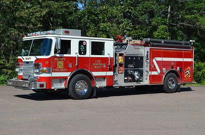 Shaft, Maryland - Allegany County Station 17.  Engine 171 from Shaft, Maryland is this 2004 Pierce Arrow XT with a top mount 1250 gpm and 750 gallons of water.  Pierce job number 15212.