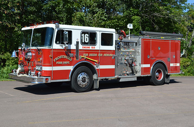 Engine 164 from Frostburg, Maryland (Allegany County) is a 1988 Seagrave JB40DH  1250/500 with serial number W79835.