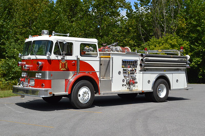 Still in service (September, 2016) at LaVale, Maryland in Allegany County is this 1968 Duplex R300/Bruco that was rehabbed by Bruco in 1985.  750/500, with Bruco serial number 669.  This was the first diesel motor fire truck in Allegany County, Maryland.
