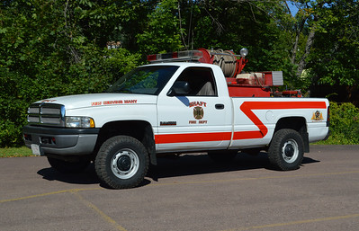 Originally delivered to Hughesville, Maryland, this 1995 Dodge Ram 2500 4x4 is Brush 17 at Shaft, Maryland in Allegany County.  Equipped with a 250/150.