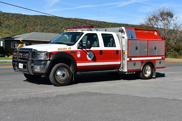 Brush 43 from Orleans is a 2006 Ford F550/4-Guys 400/300/8 and s/n F2459.