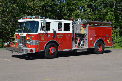 Shaft, Maryland (Allegany County) Engine 172 is a 1987 Pierce Lance 1000/750 and job number E3486.