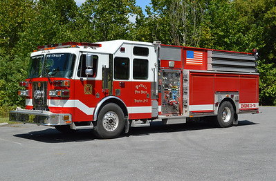 LaVale Maryland, Allegany County Station 2.  Engine-Rescue 2 is this 2002 Sutphen 1500/500 with serial number HS 3676,