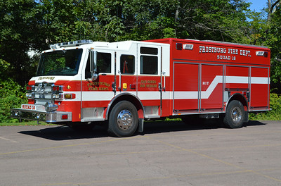 Frostburg, Maryland Squad 16 is a 2010 Pierce Velocity with job number 23353.