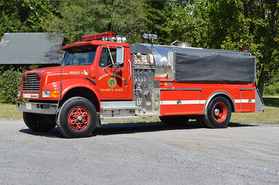 Mount Savage, Maryland Tanker 15, a 1991 International 4900/4-Guys with a 500/1800 and 4-Guys number F1401.