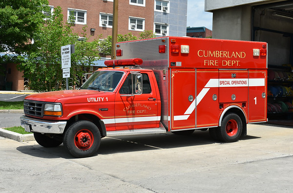 Cumberland, Maryland Utility 1, a 1993 Ford Super Duty/4-Guys.  This truck has performed a variety of roles at Cumberland, including Air Unit & Rescue and Squad 1.