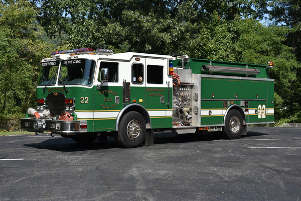 Engine-Tanker 22 from Westernport, Maryland in Allegany is a 2002 KME Excel with a 1250/1500.  GSO 5294.