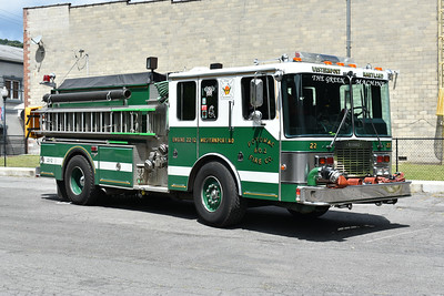 Engine 22-12 from Westernport, Maryland is this 1991 HME 1871/Grumman with a 1250/1250 and Grumman serial number 18544.  Engine 221 was built along with neighbor Piedmont, West Virginia, also owning a 1991 Grumman.
