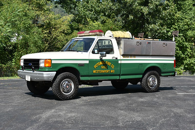 Westernport, Maryland Brush 22 is a 1987 Ford F250/2016 CET skid with a 150/250.