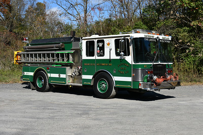 Westernport, Maryland in Allegany County Engine 22-12 is equipped as an engine-tanker.    1991 HME1871/Grumman Panther II with a 1250/1250.  Grumman serial number 18544.