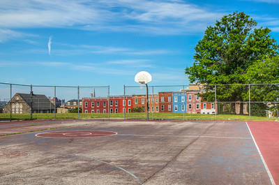 Basketball court in Baltimore, Maryland