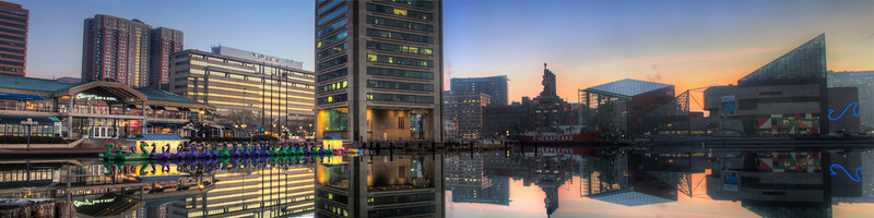 Baltimore Inner Harbor at Sunrise