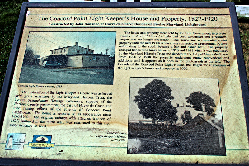 The appointment of the keeper for Concord Point was decided by President John Quincy Adams from seven applications which were submitted, including the builder of the light Donahoo. Adams selected a hero of the War of 1812 named John O'Neill to serve as the initial keeper.