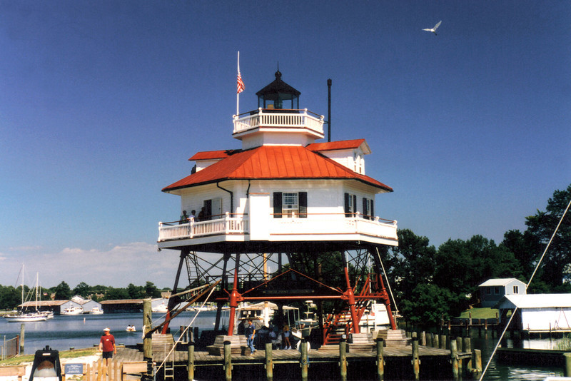 The wrought iron screwpiles used as the lights foundation were 10 inches thick. The original optic in the lighthouse was a Fourth order Fresnel lens which exhibited a red light visible for 11 miles. The light also had a 1400 pound fog bell which was manufactured in Baltimore.