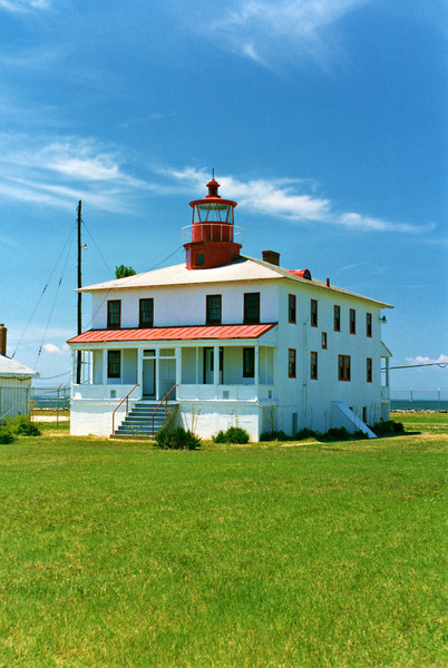 Keeper William Wood succeeded Ms. Davis and had a more difficult time keeping the Point Lookout Light.  In 1849 he had his annual pay withheld by authorities.  He had broken an entire crate of 24 glass chimneys which were stored in the basement and his cat had fallen into an oil barrel spoiling 56 gallons of oil.