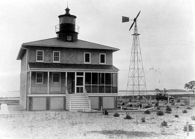 A vintage Coast Guard photo of the Point Lookout Light Station