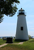 In July 1833 Donahoo completed the 35 foot lighthouse tower and keepers house using the same plans he had used to build the tower at Concord Point in Havre de Grace in 1827.  The tower is 16 feet in diameter at its base with a wooden staircase leading to the lantern.