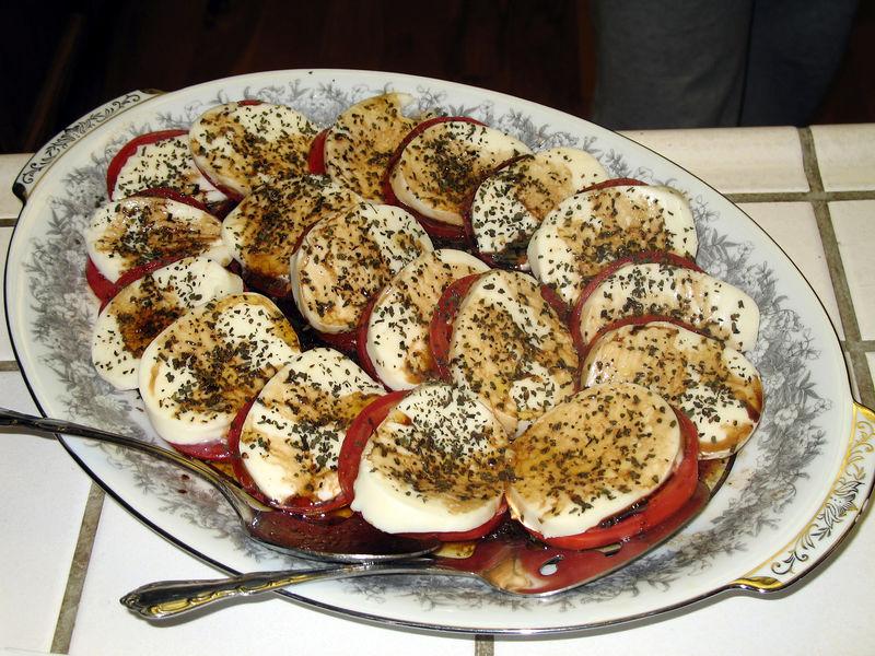Mary's Caprese salad.