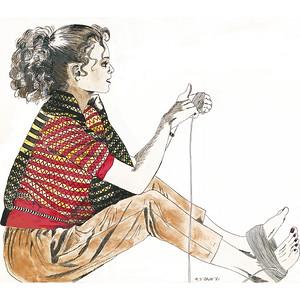 Girl with Yarn 8X8