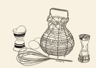 Basket of Eggs 7X5