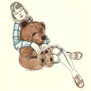 Girl and Bear 8X8