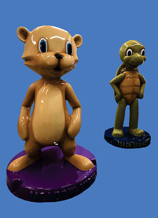 Turtle and Otter Mascots