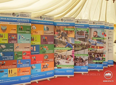 As guests arrive for the inaugural event of Mubarak Mosque they are greeted with an array of exhibitions from  @IAAAE_org  to  @humanityfirstuk  #MTAi