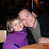 Emma's 5th birthday dinner 4/8/05--she LOVES her Daddy!